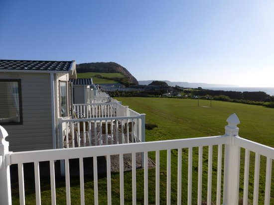 Ladram Bay Holiday Park: Front Row View