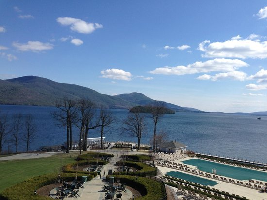 The Sagamore Resort: View from 3rd floor deck - between rooms 300 and 349.