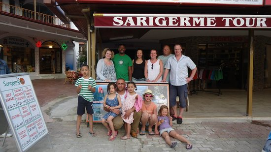 """Sarigerme Tours: The """"Dalyan mudbath"""" posse after a wonderful day out with Zaza (positioned between the two wee-o"""