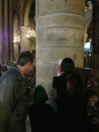 Paris Muse Private Tours: Patrick and my kids still actively solving clues towards the end of the tour.