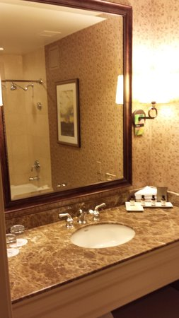 The Fairmont Dallas: Nice Bathroom