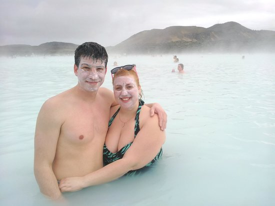 Blue Lagoon Iceland: They take pictures of you while you're in the water and email them to you