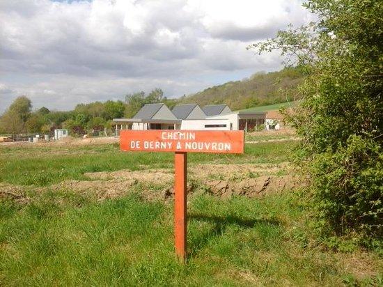 La Croix du Vieux Pont: signs for the cycle paths