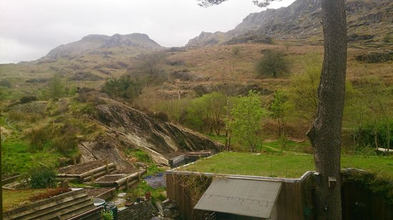 Bryn Elltyd eco Guest House: view from the back of the guest house #2