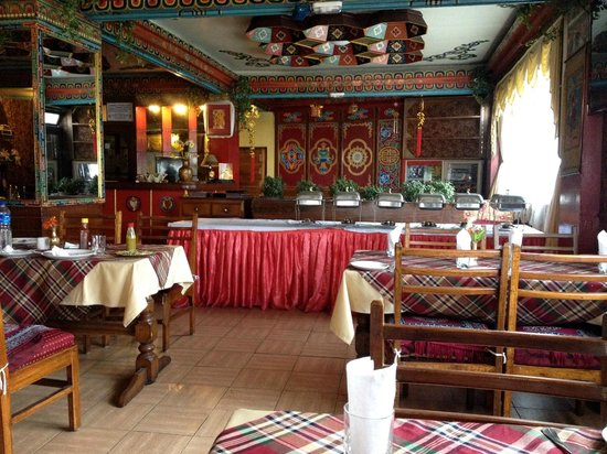 Seven Seventeen: Typical Tibetan style dining room and restaurant.