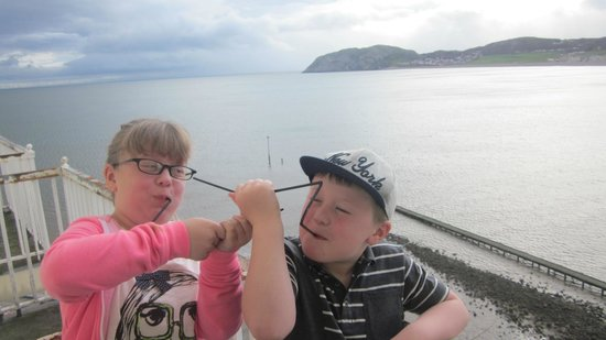 The Grand Hotel - Llandudno: Grandkids loving the view