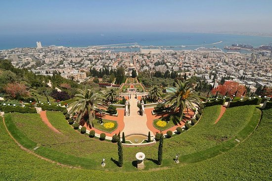 Terrasses baha'ies : View from top