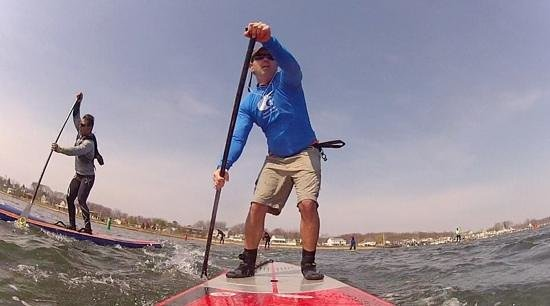 Paddle Surf New Jersey : Bell Buoy Challenge Race, Shark River