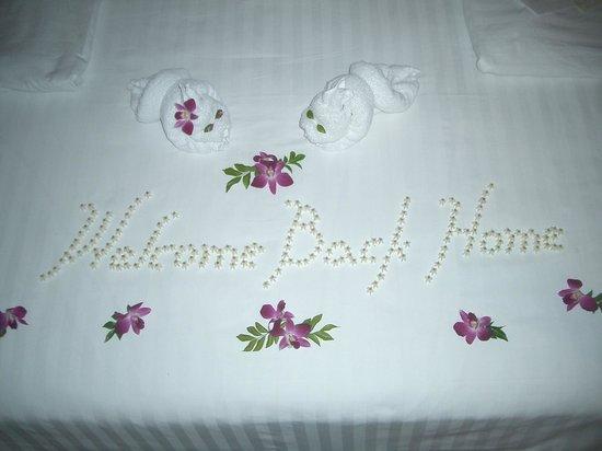 Bo Phut Resort & Spa: Der Willkommensgruss des Hotewls