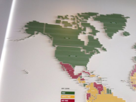Newseum: Press freedom map