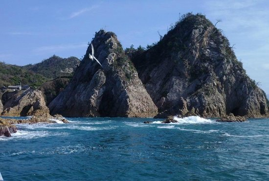 Trip Around the Islands Sightseeing Pleasure Boat : Uradome Cost cliffs and sea