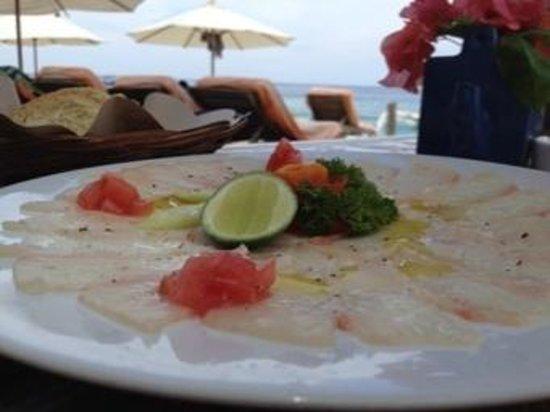 Blu D'aMare: Fish carpaccio