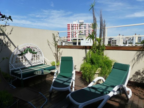 Rendez Vous Hotel Buenos Aires : le solarium au 4 ème étage