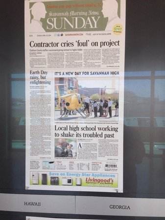 Newseum: Current savannah GA newspaper