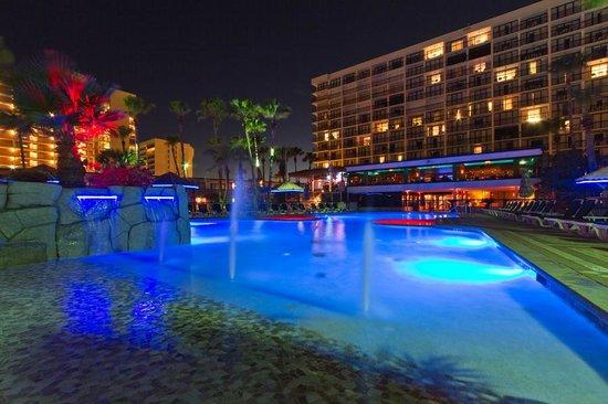 Isla Grand Beach Resort Nighttime Pool Area