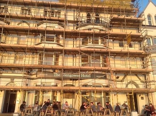 The Glengower: scaffolding