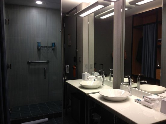 Aloft Montreal Airport: ALoft KIng bathroom with shower