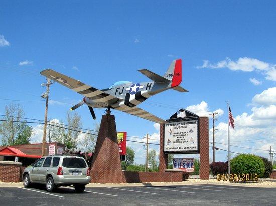 Veterans Memorial Museum: North American P-51 on Static Display
