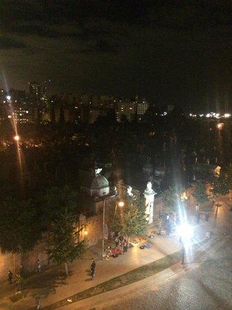 Cyan Recoleta Hotel: Vista nocturna al Cementerio de la Recoleta