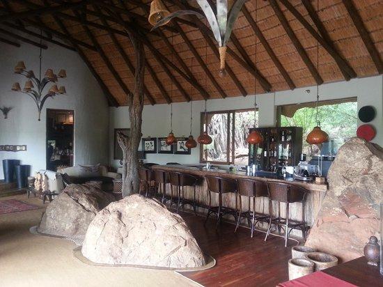 Madikwe Hills Private Game Lodge: Main bar area