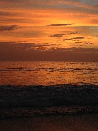 Flamingo Beach Resort And Spa : Vista al atardecer