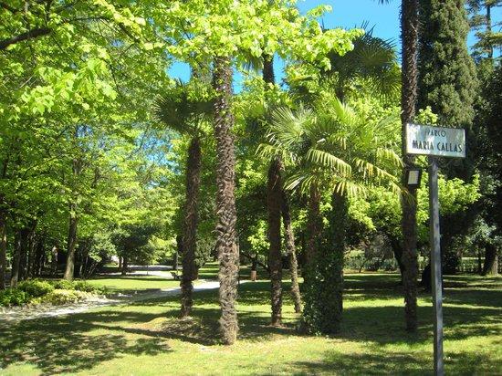 Grotte di Catullo : Verso le Grotte: il parco Maria Callas