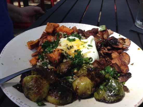 Chow Daddy's: Vegetable bowl with fried egg. One of the best things we've ever eaten.