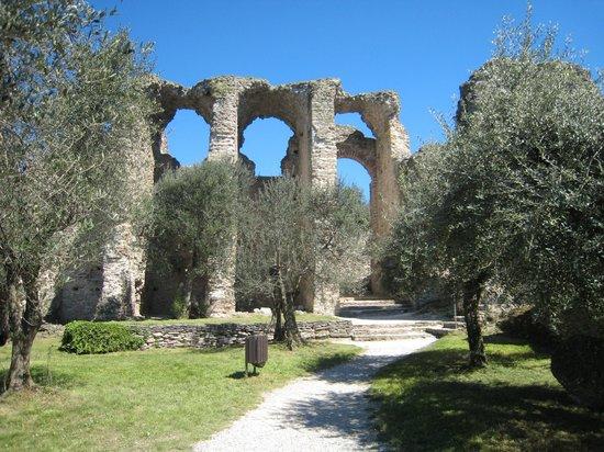 Grotte di Catullo : Resti tra gli ulivi