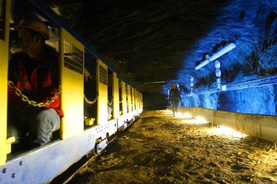 La Mine Bleue : Petit train Minier