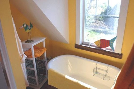 Bold Colorful Life Estate: The Butterscotch Amber claw foot tub
