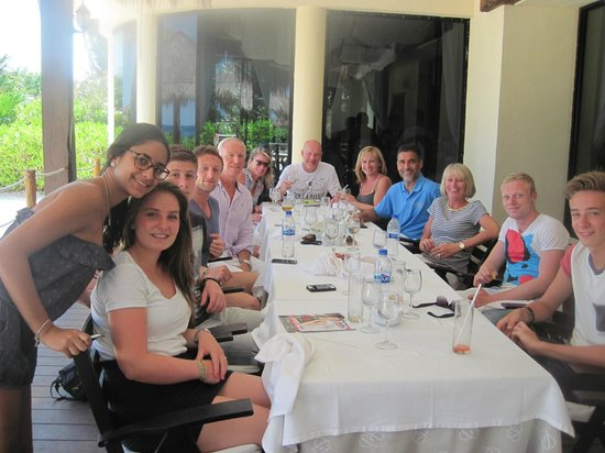 Occidental Grand Xcaret All Inclusive Resort: Good Bye meal RC