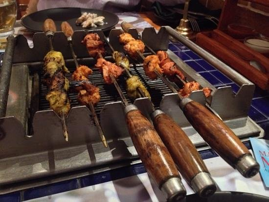Barbeque Nation: table top bbq with charcoal