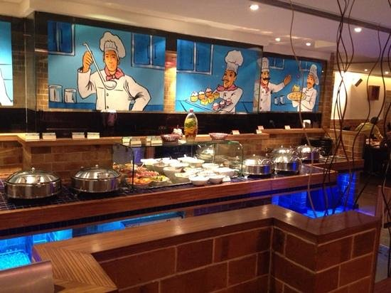 Barbeque Nation: buffet table