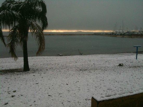 A la Maree: les flots bleus sous la neige