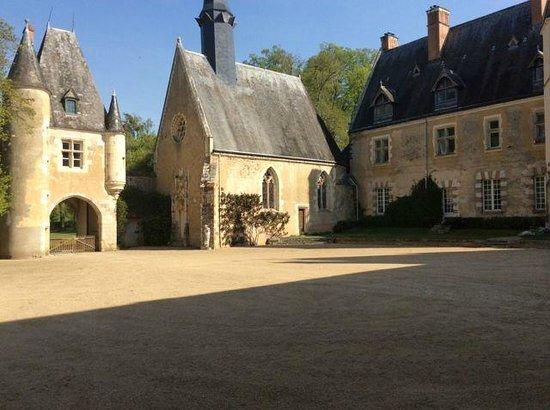 cour d 39 honneur picture of chateau de la verrerie oizon. Black Bedroom Furniture Sets. Home Design Ideas