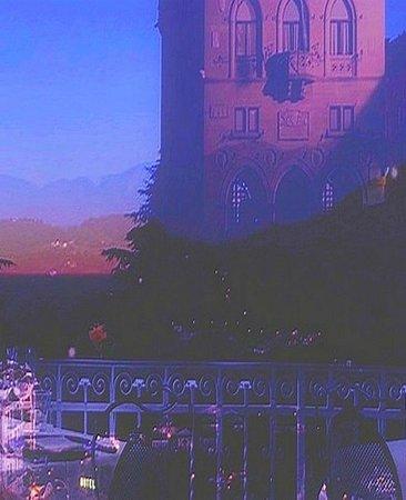 La Terrazza : While fall evening in the restaurant La Terrrazza in San Marino