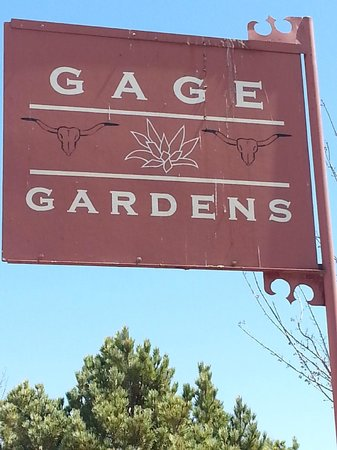 Gage Hotel: Sign at entrance
