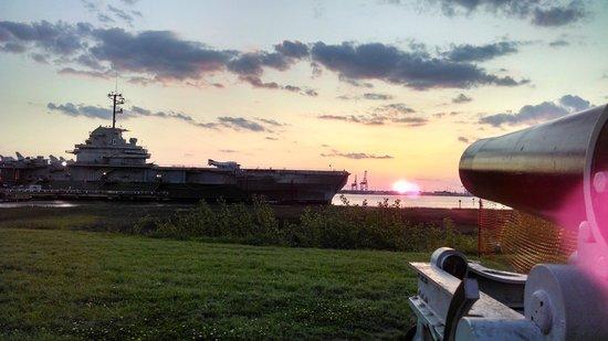 Patriots Point Naval & Maritime Museum: April Sunset