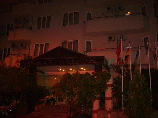 Sun Beach Hotel: Eingang bei Nacht