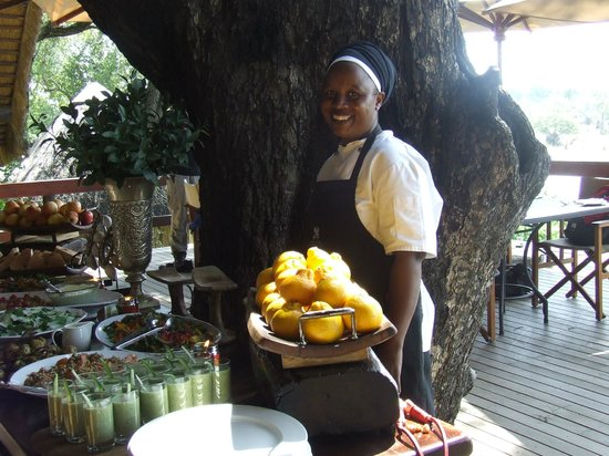 Londolozi Private Game Reserve: Wonderful lunch at Varty Camp
