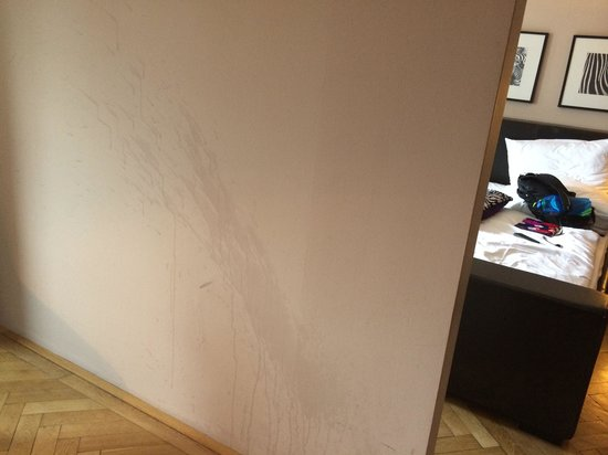 Wall stain in room 502 Hotel Stein