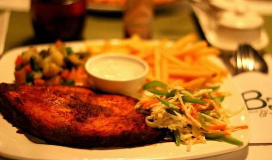 Barefoot Bar & Brasserie: Fried fish