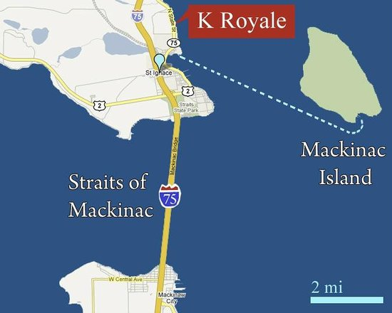 K Royale Lakefront Inn: Map of Area
