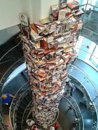 Ford's Theatre: A Book Tower with books about Abraham Lincoln