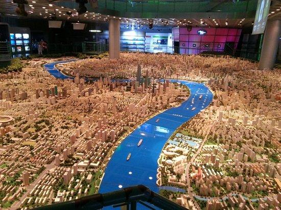 Shanghai Urban Planning Exhibition Hall: Shanghai downtown