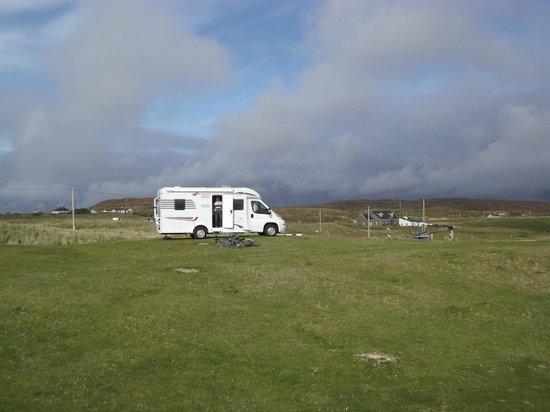 Clifden ecoBeach Camping & Caravanning Park: A happy camper