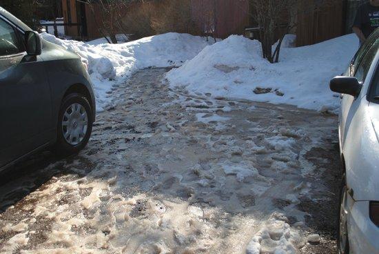 Lutsen Resort on Lake Superior: Parking area