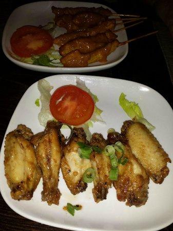 Sabai Thai: Chicken Satay and Wings