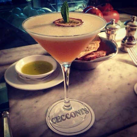 Cecconis: passion fruit martini