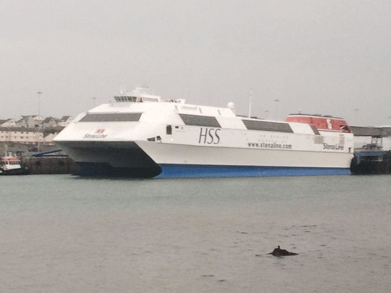 Stena Line Limited - Day Trips: HSS looks impressive while docked in Holyhead